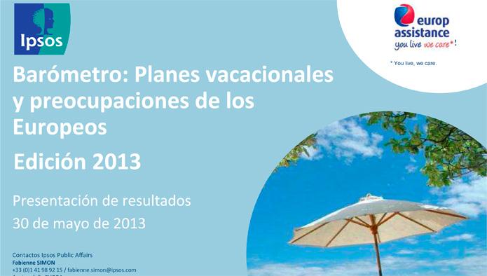 13ª edición del Barómetro Ipsos-Europ Assistance de vacaciones de los europeos