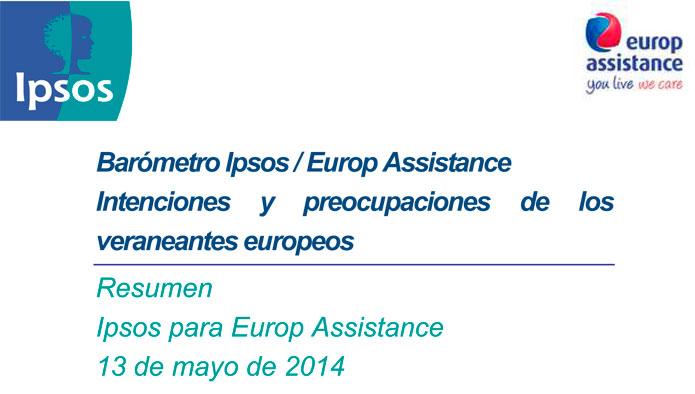 14 Barómetro Vacaciones de los europeos Ipsos-Europ Assistance