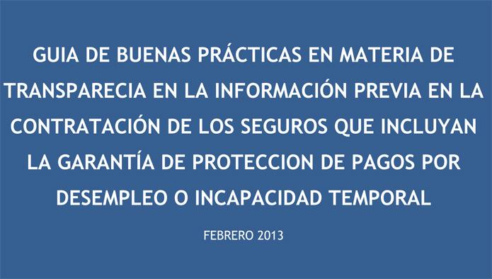 Unespa publica una Guía de buenas prácticas para seguros de Protección de Pagos