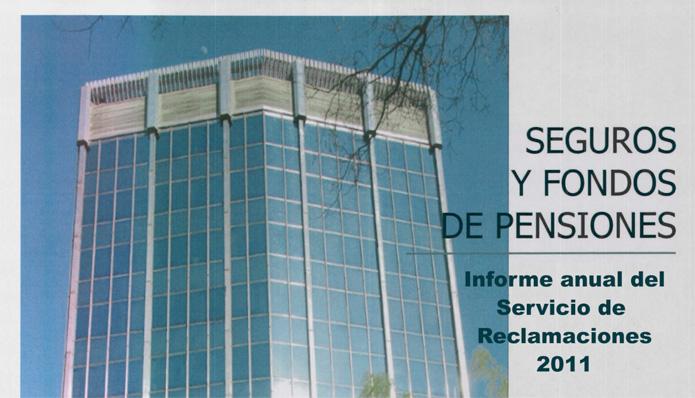 Informe anual del Servicio de Reclamaciones de la DGSFP