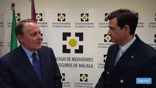 El presidente de FIATC renueva personalmente su acuerdo de colaboración con el Colegio de Mediadores de Seguros de Málaga