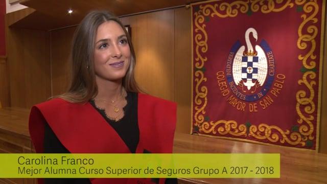 Entrevistamos a Carolina Franco, Mejor Alumna del Colegio de Madrid 2017-18