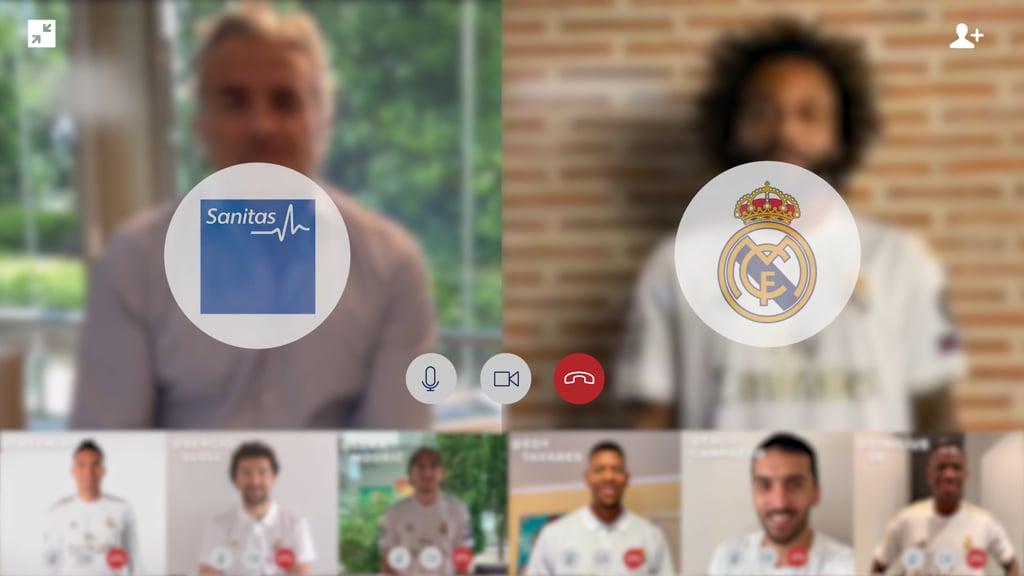 Sanitas impulsa la videoconsulta con los jugadores del Real Madrid