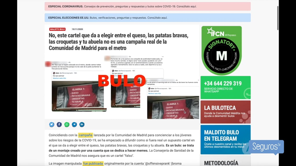 El 70% de los españoles ha creído alguna vez un bulo en la red