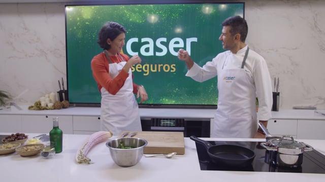Caser felicita la Navidad con una receta de Garbiñe Muguruza y Paco Roncero