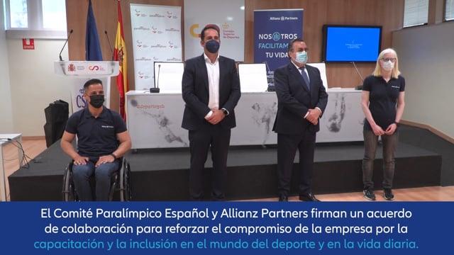 Allianz Partners rubrica su apoyo al deporte paralímpico