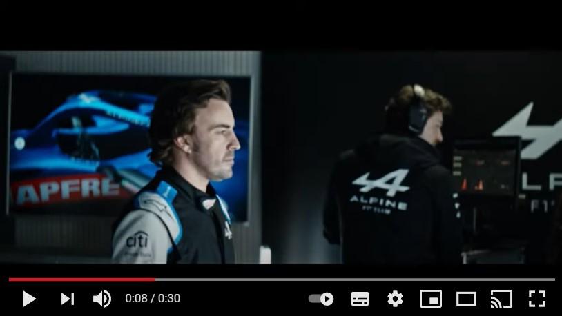 Fernando Alonso protagoniza la última campaña de Mapfre