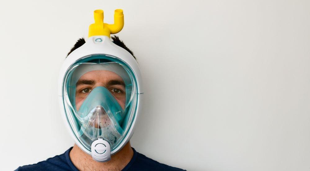 Unos innovadores italianos crean respiradores con máscaras de buceo