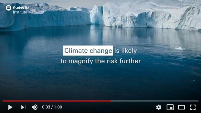 El riesgo climático sigue siendo el más importante para el seguro, según Swiss Re