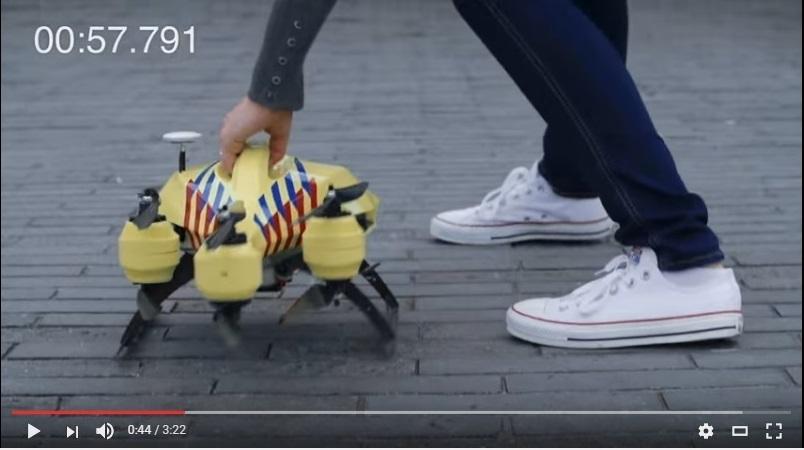 ¿Cómo puede ayudar un dron en las emergencias médicas?